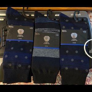 Vince Camuto Men's Dress Sock-Lot Of Three-Navy's
